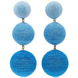 Rebecca de Ravenel M'O Exclusive Ombre Three Drop Clip Earrings | Moda Operandi Global