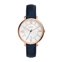Fossil Jacqueline Navy Leather Watch   - ES3843 | Fossil (US)