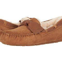 UGG Dakota Leather Bow (Chestnut) Women's Moccasin Shoes | Zappos