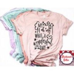 Disney Shirts/Disney Family Shirts/My Oh My What A Wonderful Day Shirt/Disney Shirts for Women/Disney/Disney World/Disney Ears/Mickey Mouse | Etsy (US)