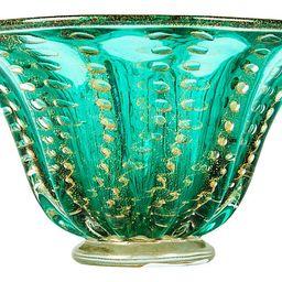 Green/Gold Murano Bowl - La Maison Supreme   One Kings Lane