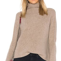 NAADAM Funnel Neck Cashmere Pullover in Tan. - size L (also in XS) | Revolve Clothing