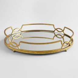 Gold Mirrored Tabletop Tray - Metal by World Market | World Market