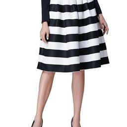 Stripe A Line High Waist Womens Ball Gown Skirt | TBDress.com