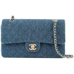 Chanel Vintage denim double shoulder bag - Blue   FarFetch Global