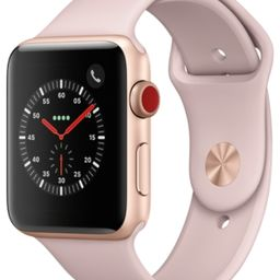 Apple Watch Series 3 (Gps + Cellular), 42mm Gold Aluminum Case with Pink Sand Sport Band | Macys (US)