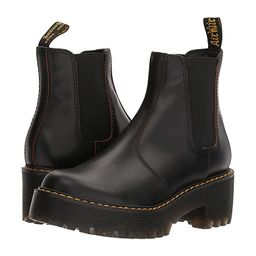 Dr. Martens Rometty (Black Vintage Smooth/Black PU) Women's Boots | Zappos