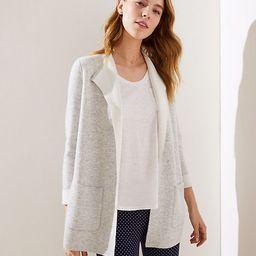 LOFT Reversible Open Sweater Jacket | LOFT