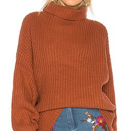 Free People Swim Too Deep Pullover Sweater in Burnt Orange. - size L (also in S) | Revolve Clothing