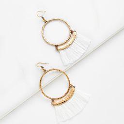 Fringe Tassel Hoop Drop Earrings | SHEIN