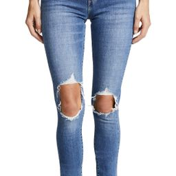 Levi's 721 High Rise Distressed Skinny Jeans | Shopbop