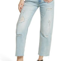 Women's Free People Rolling On The River Straight Leg Jeans, Size 24 - Blue | Nordstrom