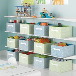 White elfa Activity Room Shelv | The Container Store