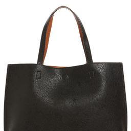 Street Level Reversible Faux Leather Tote & Wristlet -   Nordstrom