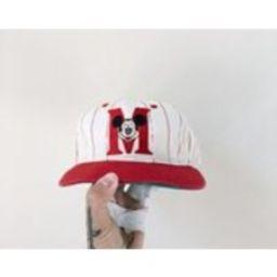 Mickey Mouse Snapback VTG 90s Disney Hat Vintage Embroidered Logo Cap Pinstripe | Etsy (US)