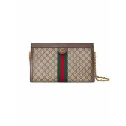 Gucci Bolsa tiracolo média 'Ophidia GG' - Neutro | FarFetch BR