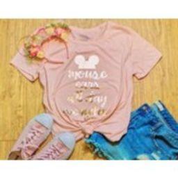 disney shirt, disney tshirt, pink tshirt, mouse ear shirt, millennial pink shirt, quote tshirt, disney quote shirt, mouse ears | Etsy (US)
