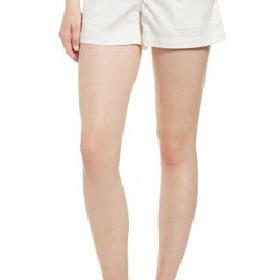 Women's Nordstrom Signature Patch Pocket Shorts, Size 0 - White | Nordstrom