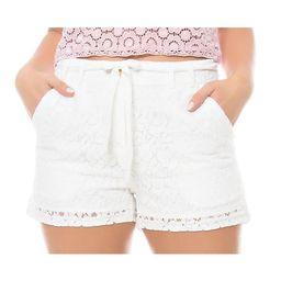 Sara Boo Drawstring Lace Shorts | Overstock