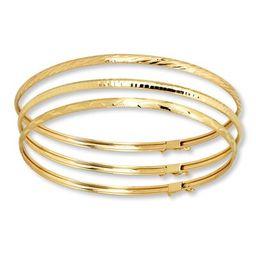 Bangle Bracelet Set 10K Yellow Gold   Jared the Galleria of Jewelry