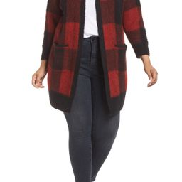 Plus Size Women's Lucky Brand Buffalo Check Cardigan   Nordstrom