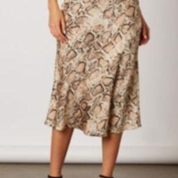 Snake Print Skirt   Shoptiques