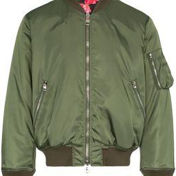 Alexander McQueen green bomber jacket | FarFetch US