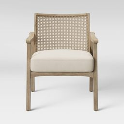 Chelmsford Cane Lounge Chair Natural - Threshold , Size: Assembly Required, White   Target