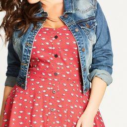 City Chic Trendy Plus Size Cropped Denim Jacket | Macys (US)