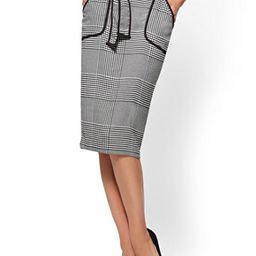 7th Avenue - Piped Pencil Skirt - Black & White   New York & Company