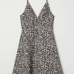 H & M - Jacquard-weave Dress - Beige   H&M (US)