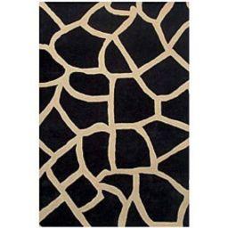 Black Giraffe Print Rug - 5' x 8' | Overstock