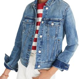 Women's Madewell Shrunken Stretch Denim Jacket | Nordstrom