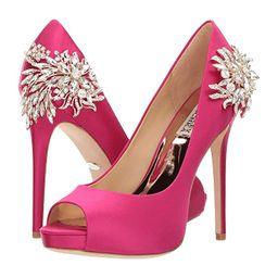 Badgley Mischka Marcia (Hot Pink Satin) High Heels | 6pm