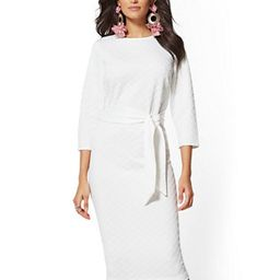Quilted Tie-Front Sheath Dress | New York & Company
