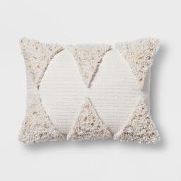 Cream Fringe Lumbar Pillow - Opalhouse , Beige   Target