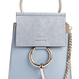 Chloe Faye Small Suede & Leather Bracelet Bag - Blue   Nordstrom