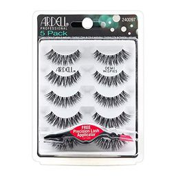 Ardell Demi Wispies Black Lashes 5 Pack + Free Precision Lash Applicator   Amazon (US)
