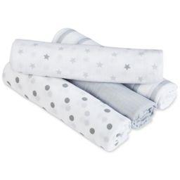aden by aden + anais 4-Pk. Dove Swaddle Blankets, Baby Boys & Girls | Macys (US)