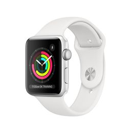 AppleWatch Series3 GPS, 42mm Silver Aluminum Case with White Sport Band | Apple (US)