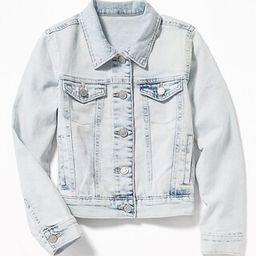 Acid-Wash Denim Jacket for Girls   Old Navy US