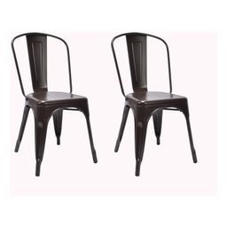 Carlisle High Back Metal Dining Chair Set of 2 - Antique Brown - Ace Bayou, Adult Unisex, Size: 2 Pack - Ships Flat   Target