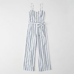 Belted Button-Front Jumpsuit   Abercrombie & Fitch US & UK