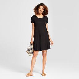 Women's Swing T-Shirt Dress - Spenser Jeremy Black S | Target
