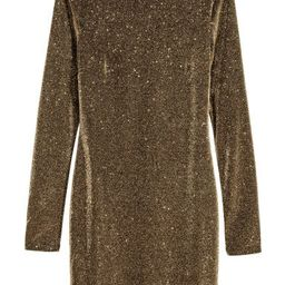 H & M - Glittery Dress - Gold | H&M (US)