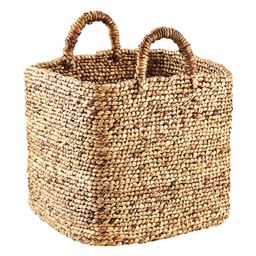 Braided Water Hyacinth Cube   The Container Store