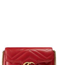 Gucci Supermini Gg Marmont 2.0 Matelasse Leather Shoulder Bag - Red | Nordstrom