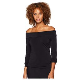 eci Off the Shoulder Top (Black) Women's Clothing | 6pm