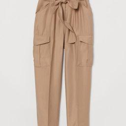 H & M - Paper-bag Pants - Beige | H&M (US)