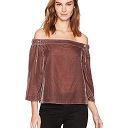 Calvin Klein Jeans Women's Long Sleeve Off The Shoulder Velvet Blouse   Amazon (US)